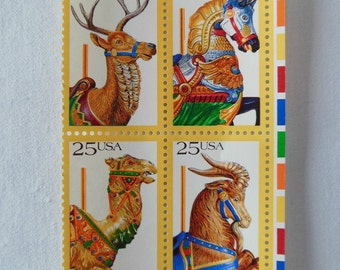 USPS 1988 Carousel Stamps - Unused - 4
