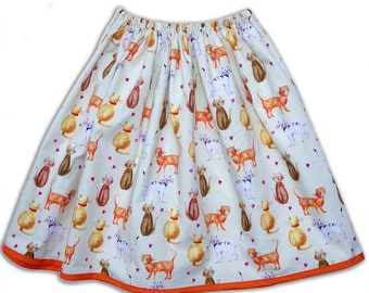 Women's Cat Skirt / Ladies Handmade Clothing