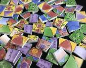 75 Broken China Mosaic Tiles