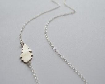 Silver Oak Leaf Necklace