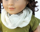 Doll Accessories fits American Girl Doll - Sparkly Cream Infinity Scarf