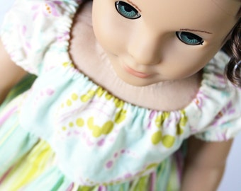 Doll Clothes fits American Girl Doll - A Heather Bailey Perfectly Peasant Dress