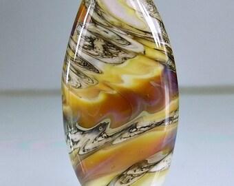 White Orange Yellow Pink Silvered Ivory Organic Lampwork Focal Bead