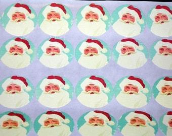 "Santa Clause Christmas 1.5"" Sticker Set or Envelope Seal Stickers"