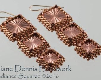 Radiance Squared Earrings Kit in Metalic Copper