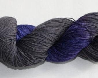 Ready to Ship - Poe Hand Dyed Sock Yarn - Sport Sock