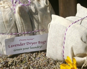 ALOHA SALE.... Lavender Dryer Bags - Set of 3  Green your laundry naturally - Eco Friendly, Lavender, Lavender Dryer Bags, Laundry