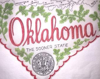 Vintage Oklahoma State Hanky - Hankie Handkerchief