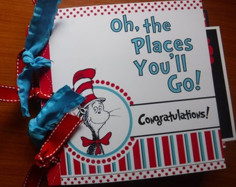 Graduation Dr. Seuss Premade 6x6  Paperbag Scrapbook  Great New Gift for New Graduate