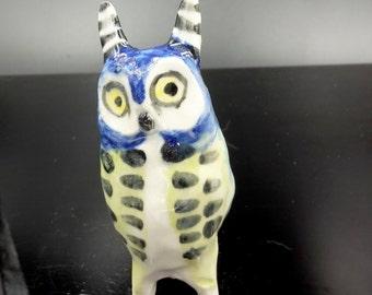 Blue Fairy Owl Figurine