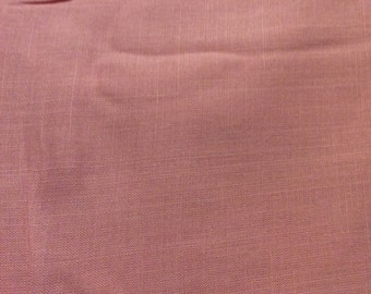 4 Yards of Vintage Pink Linen Fabric