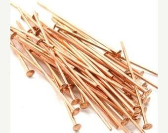 50% Off Sale Head Pins Genuine Copper 1 Inch 22ga (50) FI113