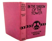 DANA GIRLS MYSTERY #3 In The Shadow of the Tower Carolyn Keene 1934 Purple 1st Edition Glossy Illustrations