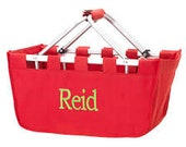 Large Personalized / Monogrammed Collapsible Market Basket
