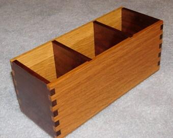 Desk Organizer / Office Desk Caddy - Oak & Walnut