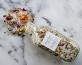 Flower Power Organic Bath Salts - Feminine Wellness Bath  Infused with Reiki - Vegan and Fabulous - Bathe in Flowers 15 oz