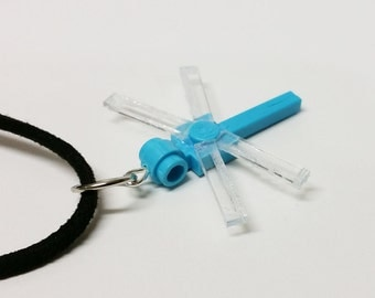Lt Blue Dragonfly Necklace