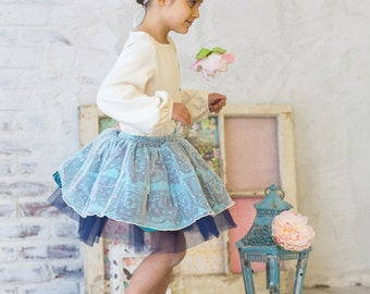 SAMPLE SALE - Opal Skirt in Wonderland - Size 8 - Take it for a twirl!