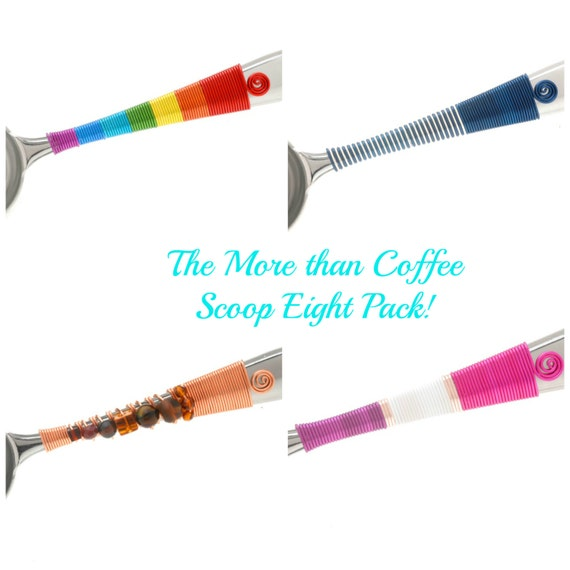 Coffee Scoop 8 Pack - New Years Eve Party - Office Gifts - Hostess Gifts - Teacher Gifts - Candy Station - Wedding Favors - Wedding Party