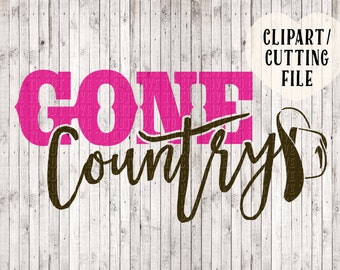 gone country svg, country girl svg, vinyl cut files, silhouette files, svg files for cricut, svg cutting files, cowboy hat svg, cowgirl svg