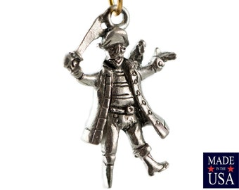 Silver Plated Pewter Pirate Charms 26x17mm (4) gyb007A