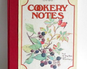 SALE - BotanicalCookbook - The Country Diary Cookery Notes - Edith Holden - Naturalist - Color Illustrations - Birds - Gardening - Woodland