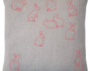 Rabbits Pillow 14 inch