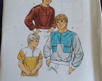 Kwik Sew Boys Shirt Pattern 1433