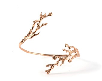 Rose Gold Cherry Blossom Bracelet