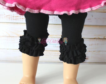 Doll Capri Leggings  18 inch Doll Pants Doll Pants Doll Tights 15 inch doll leggings Baby Doll Clothes Doll Leggings Ruffle Doll Leggings