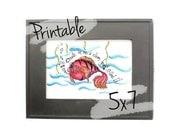 Printable Scripture Art- Pink Fish- Scripture Art - 5x7 - Psalm 51:10
