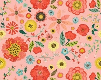 30% OFF Roots & Wings Coral Main - 1/2 Yard