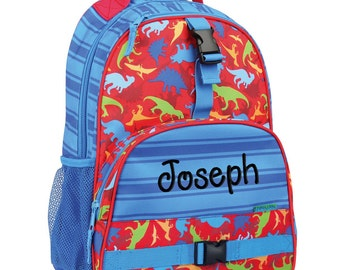 Personalized Backpack Dino Dinosaur, Stephen Joseph Bookbag, Monogrammed, Elementary school backpack