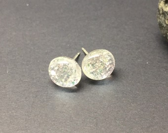 Dichroic Stud Earrings with Sterling Silver Posts