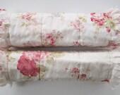 Burp Cloths Girl, Burp Cloth Set, Flannel, Baby Girl Burpies, Cloth Pad Set, Cottage Chic Nursery