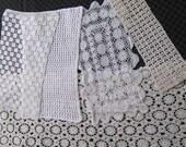 oblong doily . crochet doilies. doily lot . crochet table runner . lot of 5 . 5 crochet doilies
