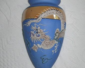 Dragonware wall pocket . dragonware . wall pocket . humidifier . wall vase . dragonware vase . moriage . moriage wall vase