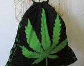 Big Marijuana Leaf backpack