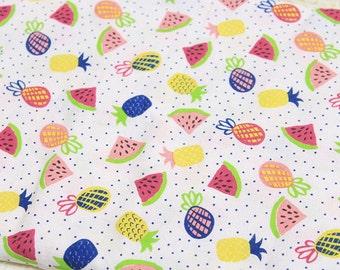 4197 - Fruit Cotton Linen Blend Fabric - 57 Inch (Width) x 1/2 Yard (Length)