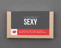 """Cheap Wedding Gift. Love, Sex Coupons. Affordable, Inexpensive, Budget.  Under 20, 25, 50. For Man, Woman, Him, Her. """"Sexy"""" (L2L01)"""