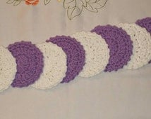 Cotton Facial Scrubbies (set of 8) in White and Light Purple