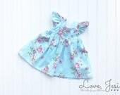 Little Girls Clothing, Toddler Girl Dress, School Clothes for Girls,Pink Floral Dress,Newborn Girls Dresses,Floral Girls Dress, Summer Dress