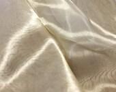 GOLD Silk and Metal Organza Fabric 1/3 yard remnant