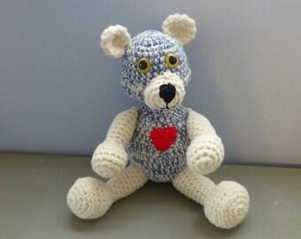 Teddy Bear Crocheted Handmade