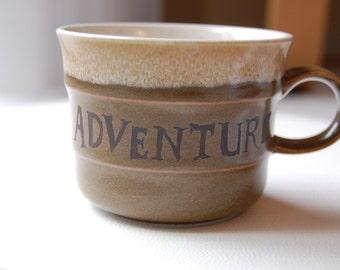 Adventure Brown Vintage Mug