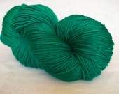 Hand painted 8ply superwash milk fibre and wool, green 200g