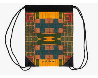 Drawstring Backpack,Tribal School Bag,Cinch Bag,Unique Back to School Supplies,Art Student Gifts,Going Off to College Gifts,Unique Bags
