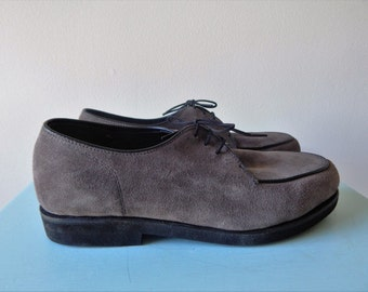 Vintage Knapp Grey Suede Shoes NOS