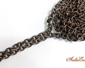 Vintaj 4mm Petite Etched Cable Chain. 2 feet. CH35