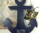 "ANCHOR WEDDING GUESTBOOK, Nautical Guestbook, Guest Book Alternative, Bride and Groom, Beach Signs, Coastal Decor, 26"" tall"